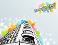 Free Colorful Splats City Building Stock Photos - 14203293