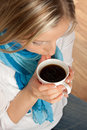 Free Woman With Cup Of Coffee Royalty Free Stock Images - 14203679