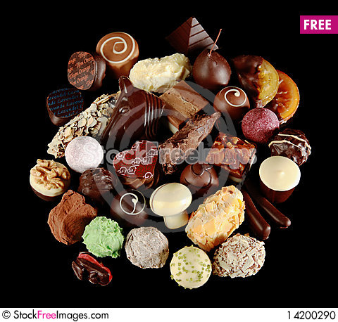 Free Assortment Of Special Chocolates Stock Photo - 14200290