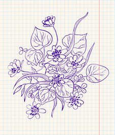 Free Doodle Floral Stock Photo - 14200040