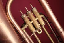 Free Old Euphonium (detail) Royalty Free Stock Image - 14200986