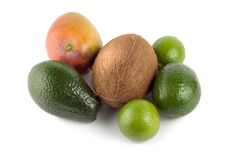 Free Tropical Fruits Isolated Royalty Free Stock Photos - 14201028