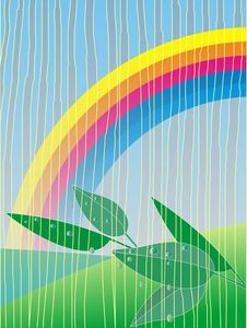 Free Rain And Rainbow Royalty Free Stock Photos - 14201188