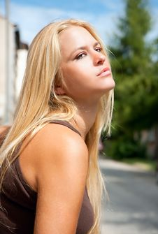 Free Beautiful  Lovely Woman Posing Outside Stock Photos - 14201523