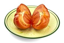 Sliced Of Tomato Royalty Free Stock Images