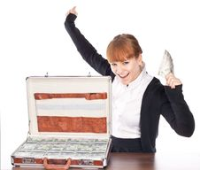 Free Briefcase Full Of Money Stock Photos - 14203163