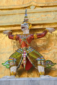 Free Thai Style Statue Royalty Free Stock Photos - 14203288