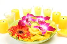 Free Flowers And Candles Royalty Free Stock Image - 14203316