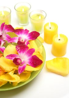 Free Flowers And Candles Stock Image - 14203341