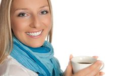 Free Woman With Cup Of Coffee Stock Image - 14203671