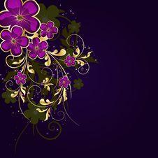 Free Golden Floral Frame Stock Images - 14203934