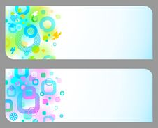 Free Abstract Colorful Banners Stock Image - 14204341