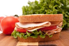 Free Turkey Breast Sandwich Royalty Free Stock Photography - 14204817