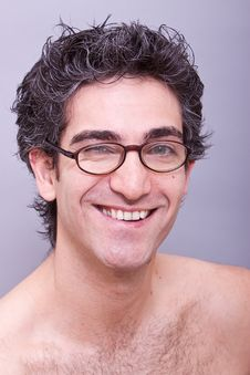 Free Goofy Looking Young Man In Eyeglasses Stock Photo - 14205130