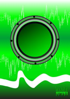 Free Abstract Disko Green Background Royalty Free Stock Photos - 14205708