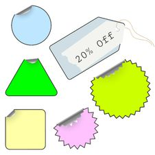 Vector Set Of Tags Stock Photography