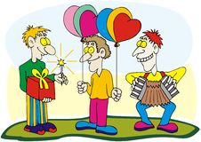 Free Funny Guys With Harmonica And Balloons Stock Photos - 14206063