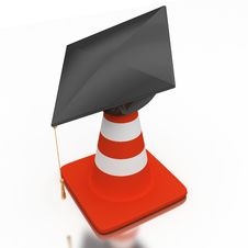 Bachelor S Hat And Cone Royalty Free Stock Image