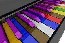 Free Grand Piano Keys Stock Images - 14207234