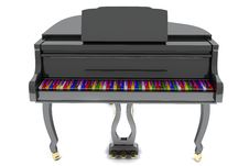 Free Grand Piano With Color Keys Stock Photos - 14207293