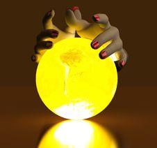 Free Hand And Luminous Globe Royalty Free Stock Photos - 14207378