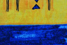 Free Blue And Yellow Textile Background Royalty Free Stock Photos - 14207438