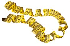 Yellow Measurement Tape. Royalty Free Stock Photography