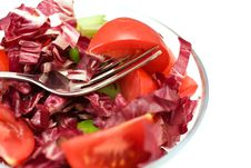 Closeup Red Salad Royalty Free Stock Photos