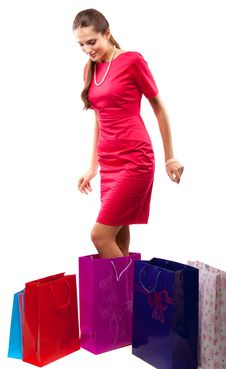 Free Woman Shopper Stock Images - 14207884