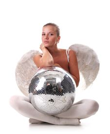 Free Angel And Disco Ball Royalty Free Stock Photos - 14208108