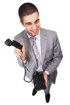 Free Businessman With Telephone Royalty Free Stock Photo - 14208145