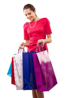 Free Woman Shopper Royalty Free Stock Photography - 14208257