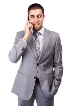 Free Man With Mobile Phone Stock Images - 14208354