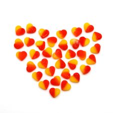 Free Heart From Fruit Candies Hearts On White Stock Photo - 14208520