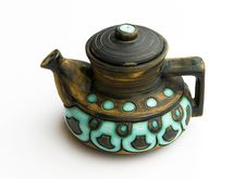 Free Jerusalem Retro Ceramic Teapot On White Royalty Free Stock Photo - 14208535