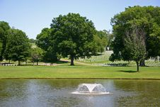 Free Fountain At National Cemetery Royalty Free Stock Photos - 14208848