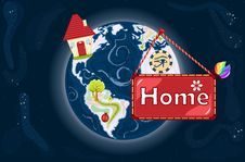 Home Sweet Home - Planet Earth Stock Images