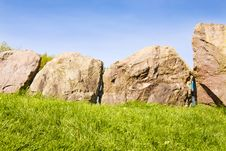 Free UNESCO - Circle Of Stones At Newgrange Royalty Free Stock Photography - 14208867