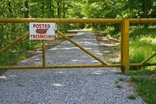 Free Posted Trespassing Stock Photography - 14208872