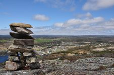 Free Rock Cairn In Newfoundland Stock Photo - 14209000