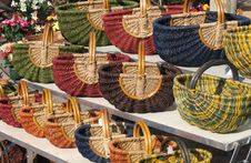 Free Baskets At A Market In Provence Stock Photo - 14209340