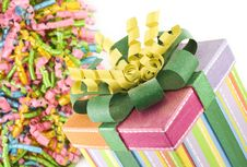 Free Birthday Present With Ribbons Stock Image - 14209581