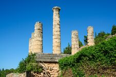 Free Delphi, Greece: Collonade Of Temple Of Apollo With Delphi Oracle, Centre Of Greek Culture Royalty Free Stock Images - 142095649