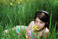 Free Girl In Summer Meadow Stock Image - 14212631