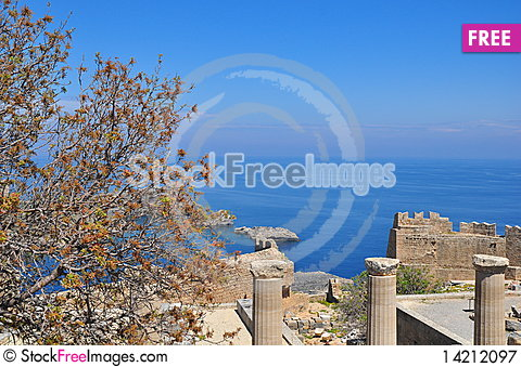 Free Bay In Lindos. The Island Of Rhodes. Royalty Free Stock Photography - 14212097