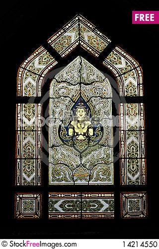 THAI STYLE WINDOWS Stock Photo