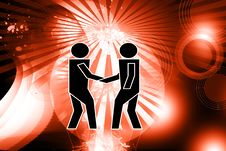 Free Shake Hand Images In Abstract Background Royalty Free Stock Image - 14210156