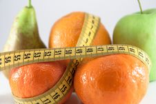 Free Fruits Measured The Meter Royalty Free Stock Images - 14210249