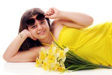 Free Peeking From Under Sunglasses Stock Photography - 14210252