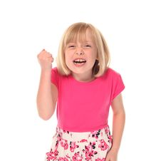Free Young Little Girl Shouting Royalty Free Stock Photo - 14210305